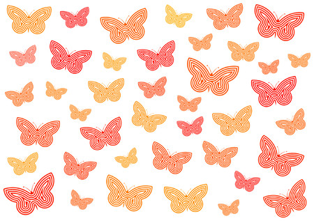 Many butterflies of different sizes and hues Stock Vector - 825575