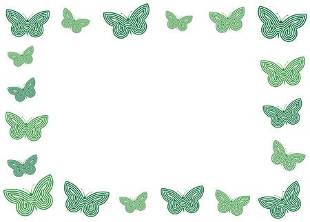 Frame of butterflies Stock Vector - 825574