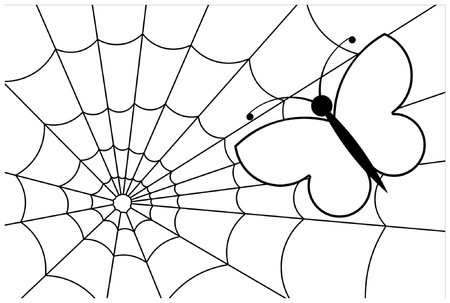 Butterfly caught in a web Stock Vector - 825567