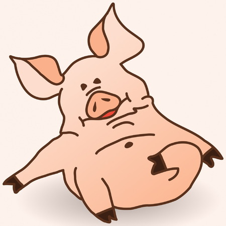 oink: Swine Oink Illustration