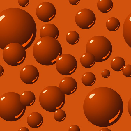 Seamless Chocolate Bubble Pattern Vector