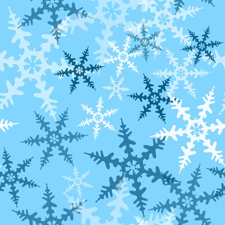 Seamless Snowflake Pattern Stock Vector - 3605840