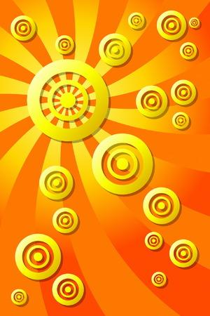 Abstract Orange Vector