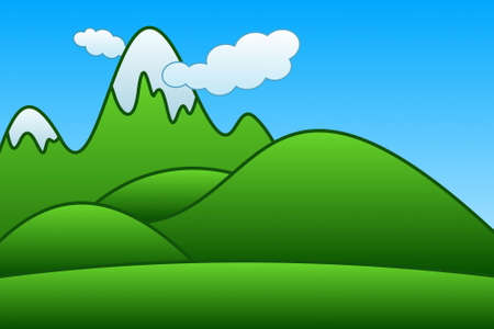 blue ridge mountains: Cartoon Mountains