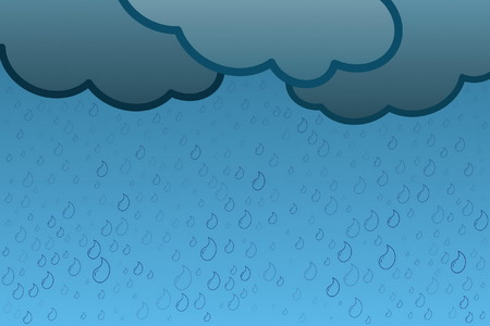 dribbling: Rain Illustration