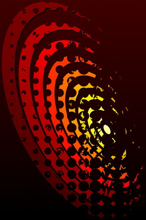 vermilion: Abstract Fire Illustration