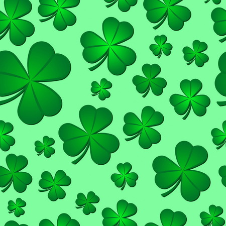Seamless Shamrock Pattern Vector
