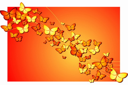 marron: Butterflies