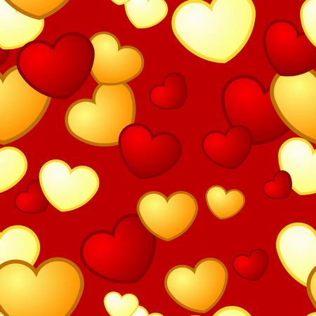 Seamless Heart Pattern Stock Vector - 4390741