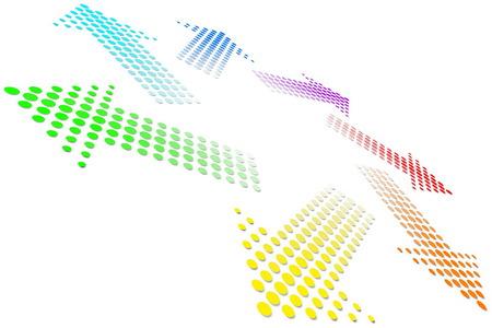 Rainbow Vortex Vector