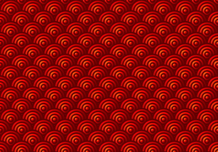 Red Scales Seamless Pattern Vector