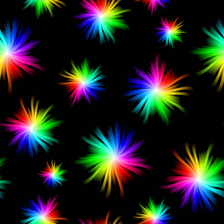 Seamless Spectrum Burst Pattern Illustration