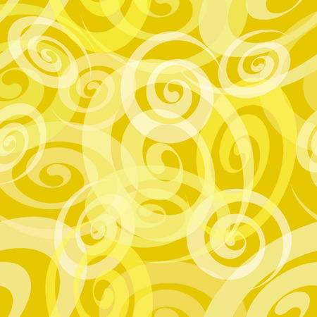 spiral pattern: Seamless Yellow Spiral Pattern