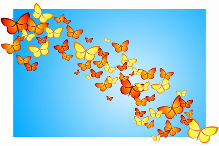 Butterfly Swarm Vector