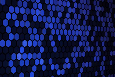 Blue Hexagon Pattern Stock Vector - 5866423