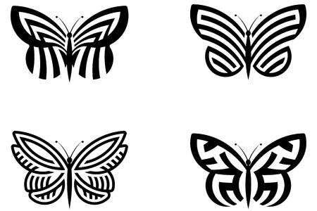 Abstract Butterflies Illustration