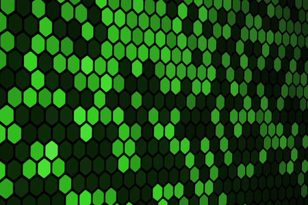 Green Hexagon Pattern Stock Vector - 5866425
