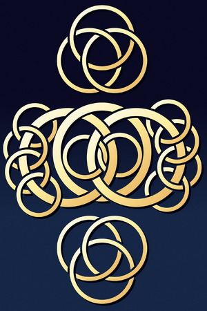Abstract Rings Ornament Stock Vector - 5892313