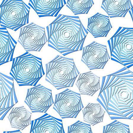 Seamless Blue Whirl Pattern Vector
