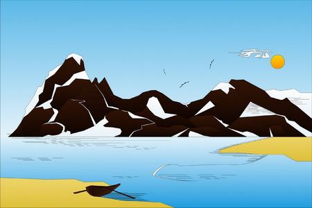 ridge: Landscape Illustration