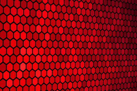 Red Hexagon Pattern