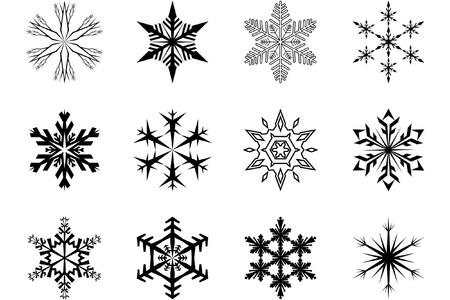 sopel lodu: Płatki śniegu Ilustracja