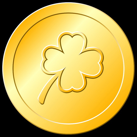 Gold Shamrock Coin