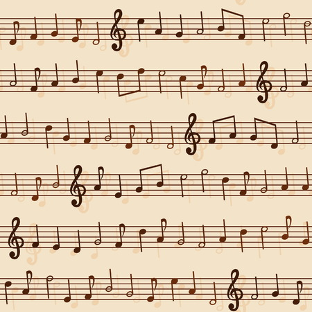 stave: Seamless Musical Notation Pattern