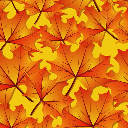 Seamless Autumn Maple Leaf Pattern Vector