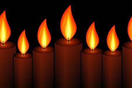 horizontally: Horizontally Seamless Candle Pattern Illustration
