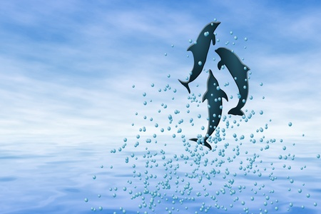 Dolphin Play Vector