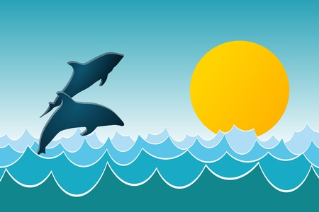 Dolphin Play Stock Vector - 11768888