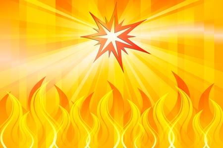 불을 붙이다: 추상 화재 일러스트