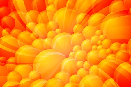 Abstract Orange Vector