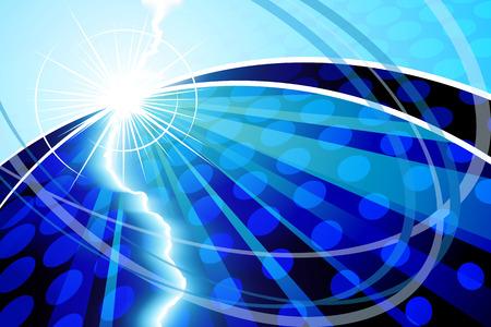 luminance: Abstract Blue Illustration