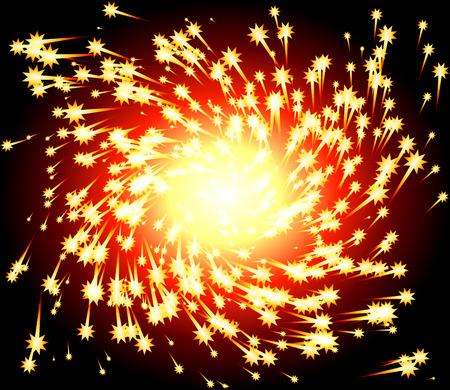 fiery: Fiery Spark Twirl Illustration