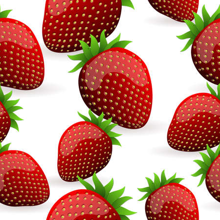catering: Nahtlose Strawberry Pattern