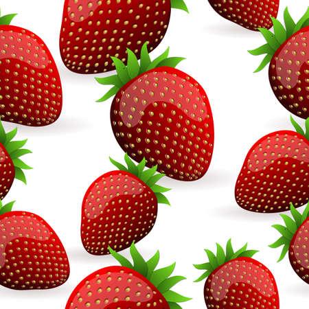 summer diet: Seamless Strawberry Pattern