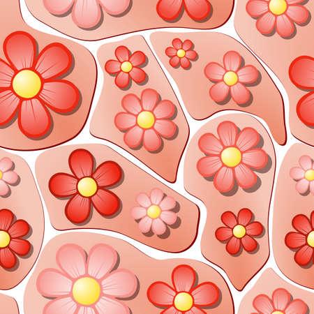 spring bed: Seamless Flower Bed Pattern Illustration
