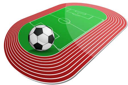 olympic stadium: Soccer Arena Illustration