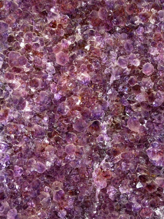 Amethyst carpet inside a druse photo