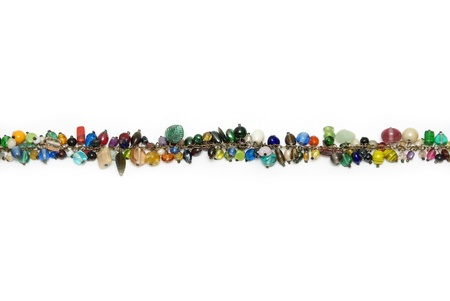 gauzy: line of color glass beads