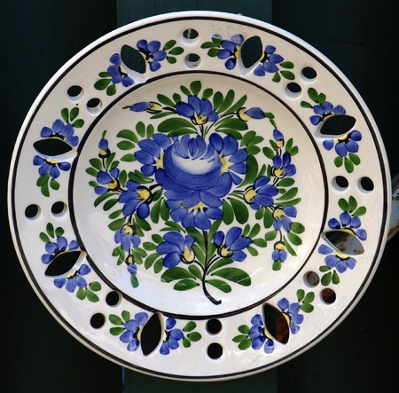 Hand made decorative painted plate photo