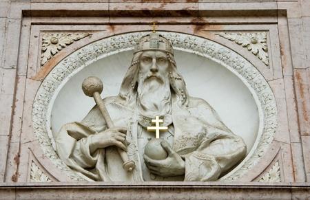 stephen: Statua di St Stephen nella Cattedrale di Santo Stefano. Budapest, Ungheria
