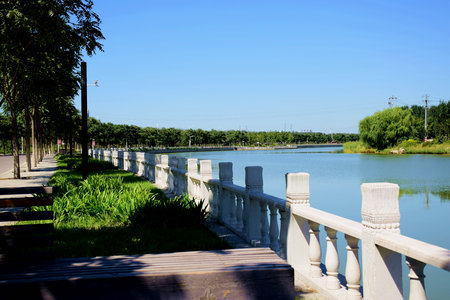 hebei: River scenery at Hebei Stock Photo