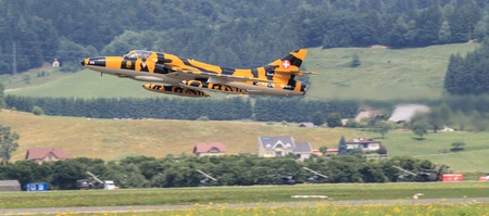 airpower: Jet Fighter at Airpower 2013 air show in Austria