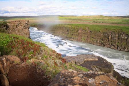 Gulfoss, Iceland  The Great Watefall  photo
