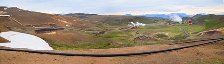 Krafla geothermal power station in northern Iceland