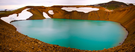 Viti crater in Krafla volcanic area, Iceland