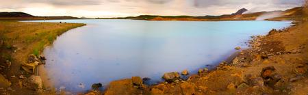 Myvatn nature baths near Lake Myvatn in the north of Iceland